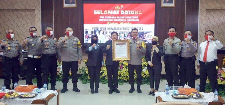 LEMKAPI Berikan Penghargaan Promoter Reward Kepada Polres Sumedang