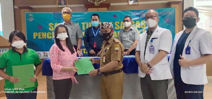 Sebanyak 7 pasien Covid 19 asal Karyawan PT Kahatex dinyatakan sembuh