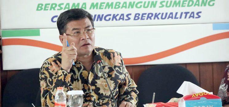 Wabup Laksanakan Akselerasi Evaluasi SAKIP di DPMPTSP Sumedang