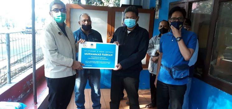 Legislator NasDem Farhan Berikan Bantuan Pembangunan Beberapa Fasum di Bandung dan Cimahi