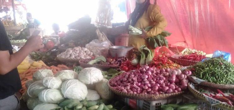 Hampir Sepekan Beberapa Jenis Sayuran di Kota Suk