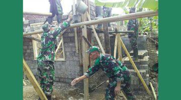 Koramil 1003Tanjungkerta Kerja Bakti Rehab Rutilahu Milik Warga Dusun Sukamulya