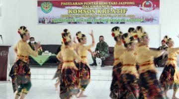 Lestarikan Budaya Sunda Kodim 0610 Sumedang Laksanakan Pagelaran Seni Tari Jaipong