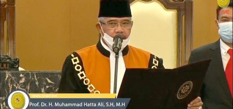 Surat Terbuka Mantan Ketua Mahkamah Agung RI Prof. Dr. H. Hatta Ali
