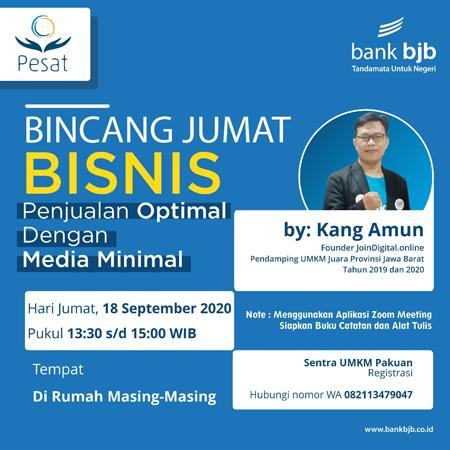 Yuk Ikuti Bincang Bisnis Online bank bjb