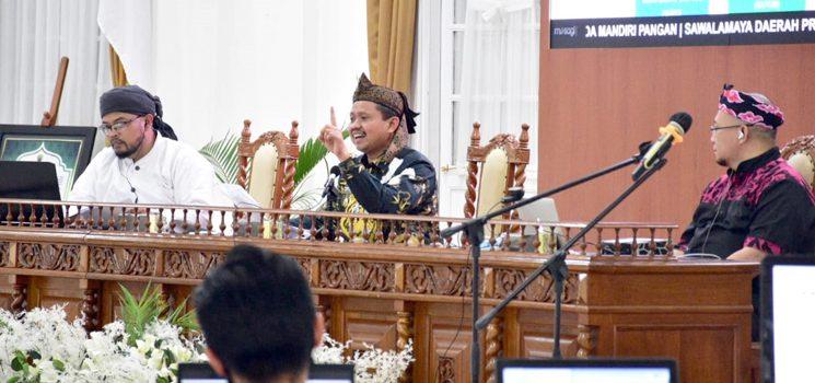 Bupati Sumedang Menjadi Pembicara Utama di Webinar Sunda Mandiri Pangan