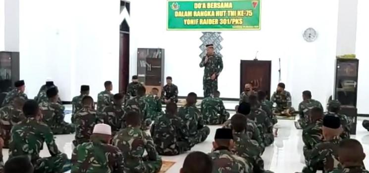HUT TNI Ke 75 Keluarga Besar Yonif R 301 Pks