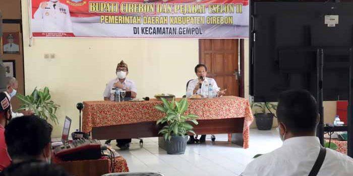 Siap Laksanakan E Pilwu Kecamatan Gempol Diapresiasi Bupati Cirebon