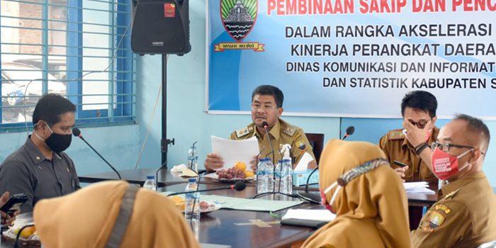 Bupati Sumedang Berharap Diskominfosanditik Menjadi Pionir Bagi SKPD Dalam Implementasi SAKIP