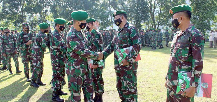 Dandim 0610 Sumedang Lepas 5 Personil Terbaik untuk Bergabung ke Satgas Apter Kodam XVIII Kasuari
