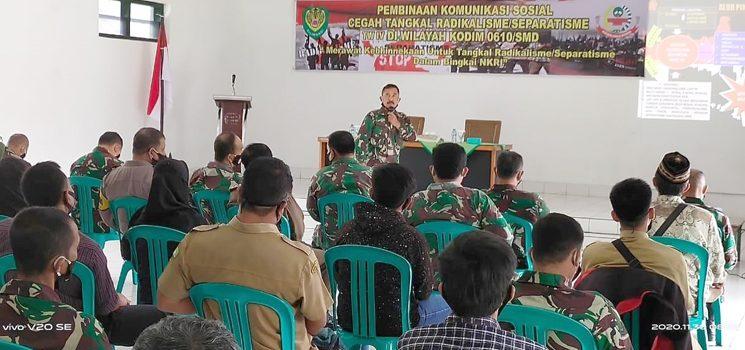 Kodim 0610Sumedang Laksanakan Komunikasi Sosial Cegah Tangkal Radikalisme dan Separatisme