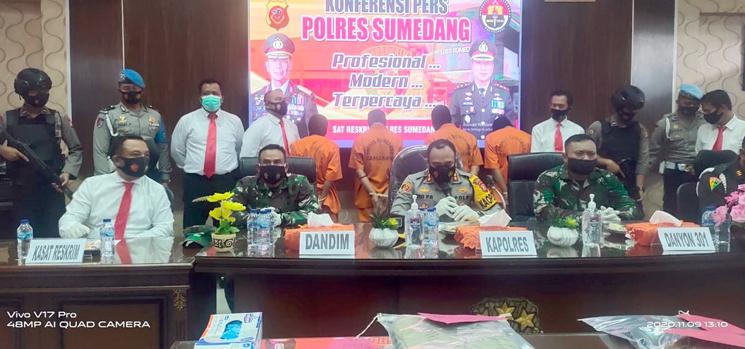 Polres Sumedang Berhasil Ungkap Kasus tindak pidana penganiayaan di Jl. Raya Sumedang – Bandung