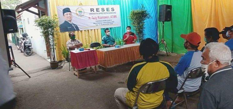 Terapkan Protokol Kesehatan Tedy Rusmawan Laksanakan Reses di Rancakamurang 2