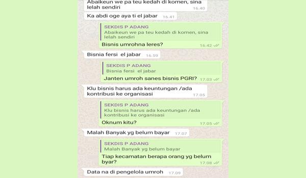 Terkait Umroh Ketua PGRI Kab. Bandung Ngaku Malah Banyak yang Belum Bayar