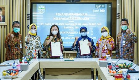 bank bjb Pemkot Banjar Kolaborasi Hadirkan E Retribusi di Pasar Tradisional 2