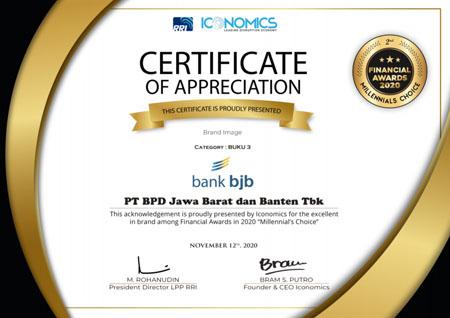 bank bjb Raih Penghargaan Indonesia Financial Awards 2020 2