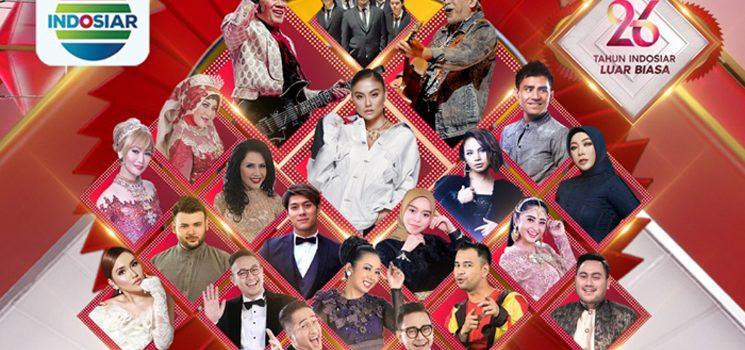 Bertabur Musisi dan Artis Perayaan HUT 26 INDOSIAR Digelar Megah Dua Malam Berturut turut