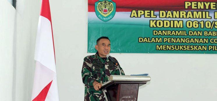 Dandim 0610Sumedang Ajak Danramil dan Babinsa Turut Sukseskan Pilkada Serentak 2020