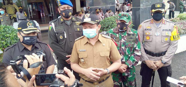 Dipimpin Bupati Polres Sumedang Gelar Apel Pengamanan Pilkades Serentak 2020