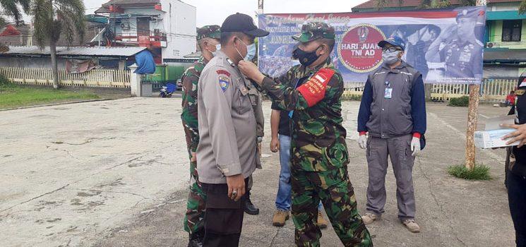 HJK 2020 Koramil 1004 Bersama Forkopincam Tanjungsari Laksanakan Karya Bakti Penyemprotan Disinfektan