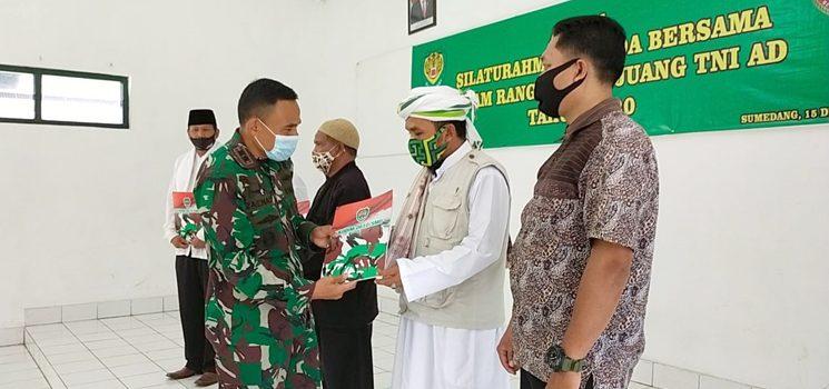 HJK ke 75 2020 Kodim 0610 Sumedang Gelar Silaturahmi Bersama Purnawirawan TNI AD dan Santuni Anak Yatim