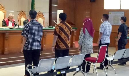 KPK hadirkan lima orang saksi pada sidang lanjutan dugaan korupsi dan pencucian uang Dadang Suganda 17122020. FOTO DRY