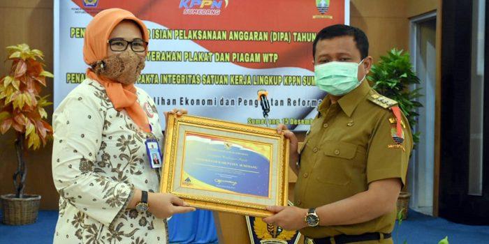 Pemerintah Kabupaten Sumedang Mendapat Penghargaan WTP Tahun 2019