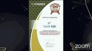 Prestasi di Tengah Pandemi bank bjb Raih Penghargaan Top 20 Financial Institution 2020