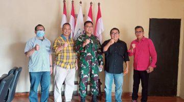 Temu Kangen Mayjen TNI Joko Warsito Sambangi Markas SMSI 3