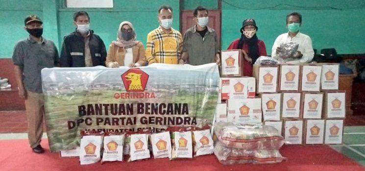 Anggota DPRD Jabar Salurkan Bantuan Sembako Kepada Korban Bencana Longsor Cimanggung
