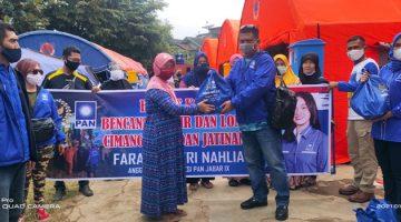 Door to Door Neng Farah Bersama Pengurus DPD PAN Sumedang Santuni Korban Bencana Longsor dan Banjir