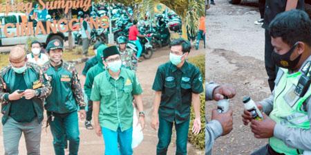 GP Ansor Sumedang Bagikan Minuman Bernutrisi Kepada Petugas Pengevakuasi Korban Longsor Desa Cihanjuang 1