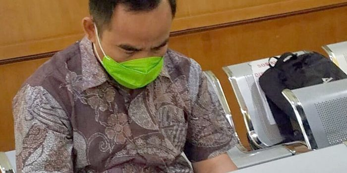 Kadisdukcapil Tatang Muchtar di Ruang Sidang PN Tipikor Bandung 07012020. FOTO DRY