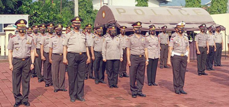 Kapolres Sumedang Pimpin Upacara Korps Raport Kanaikan Pangkat 171 Perwira dan Bintara 2