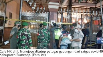 Melanggar PPKM Dua Kafe dan Satu Warung Makan di Sumenep Ditutup