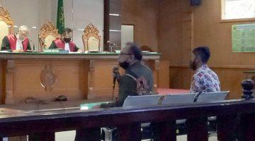 Notaris Yudi Priadi SH saat memberikan kesaksian di PN Tipikor Bandung 14012021. FOTO DRY