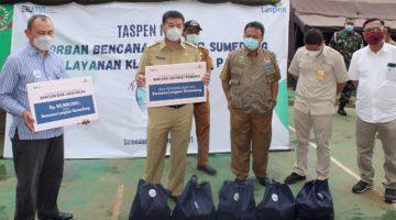 PT Taspen Persero Melalui CSR Salurkan Uang Tunai Rp 50 juta Beserta 100 Paket Sembako Kepada Korban Bencana Longsor di Desa Cihanjuang 1