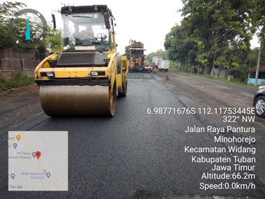 Pasca Terdampak Banjir Kerusakan Jalan Nasional di Tuban Diperbaiki 3