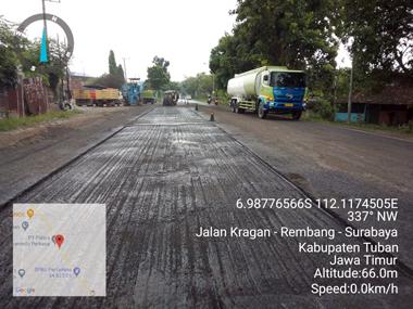 Pasca Terdampak Banjir Kerusakan Jalan Nasional di Tuban Diperbaiki 4