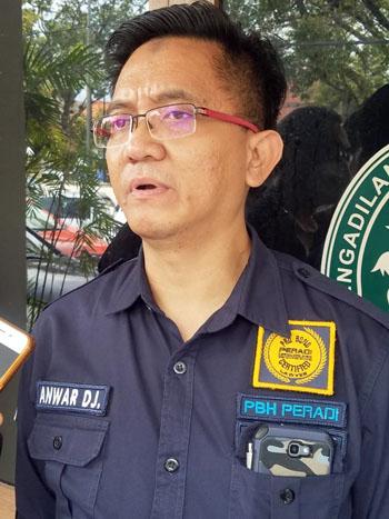 Penasihat hukum Anwar Djamaludin SH MH. Foto DRY