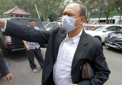 Penasihat hukum Dadang Suganda Efran Helmi Juni di PN Tipikor Bandung 21012021. FOTO DRY