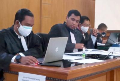 Tim Jaksa KPK di PN Tipikor Jalan LL RE Martadinata Kamis 21012020. FOTO DRY