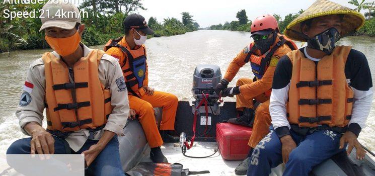 Tim SAR Gabungan Cari Yayat yang Dilaporkan Tenggelam di Sungai Cimanuk Desa Karyamukti