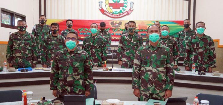 Korem 062 Tarumanagara Ikuti Rapat Pimpinan TNI AD Tahun Anggaran 2021 Secara Virtual