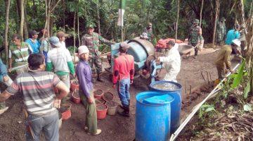 Pra TMMD ke 110 Kodim 0610Sumedang Fokuskan Pengecor Jalan di Desa Wargaluyu Sukamukti dan Cikaramas