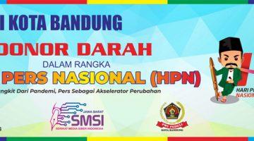 Rangkaian HPN 2021 PWI Kota Bandung Kembali Laksanakan Bakti Sosial Donor Darah