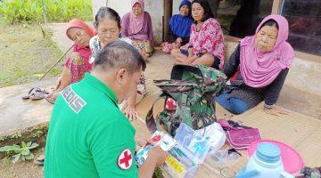TMMD Ke 110 Kodim 0610Sumedang Berikan Layanan Pengobatan Gratis Kepada Masyarakat