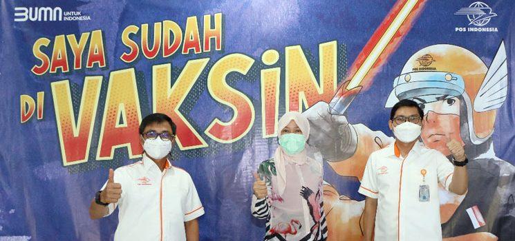 Tanggulangi Covid 19 12.000 Karyawan Pos Indonesia Menerima Vaksinasi 1
