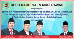 04 DPRD MUSI RAWAS Mengucapkan Selamat Acara Pelaksanaan Sinergitas Program Kerja