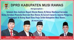 05 DPRD MUSI RAWAS Mengucapkan Selamat Audensi Bupati dengan Ketua Kwarcab Pramuka